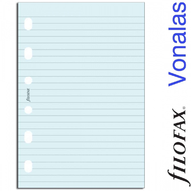 de4edb6b9f6d Filofax Jegyzetlapok Vonalas Pocket Kék -