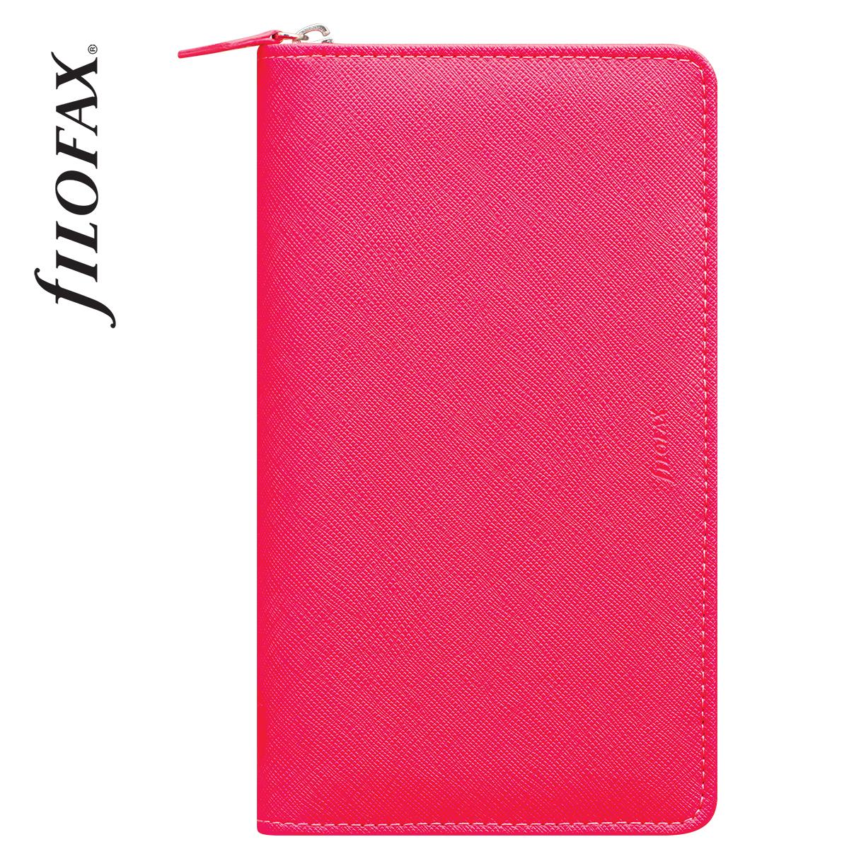 Filofax Saffiano Compact Zip Fluoro Pink - 667e68a1ad