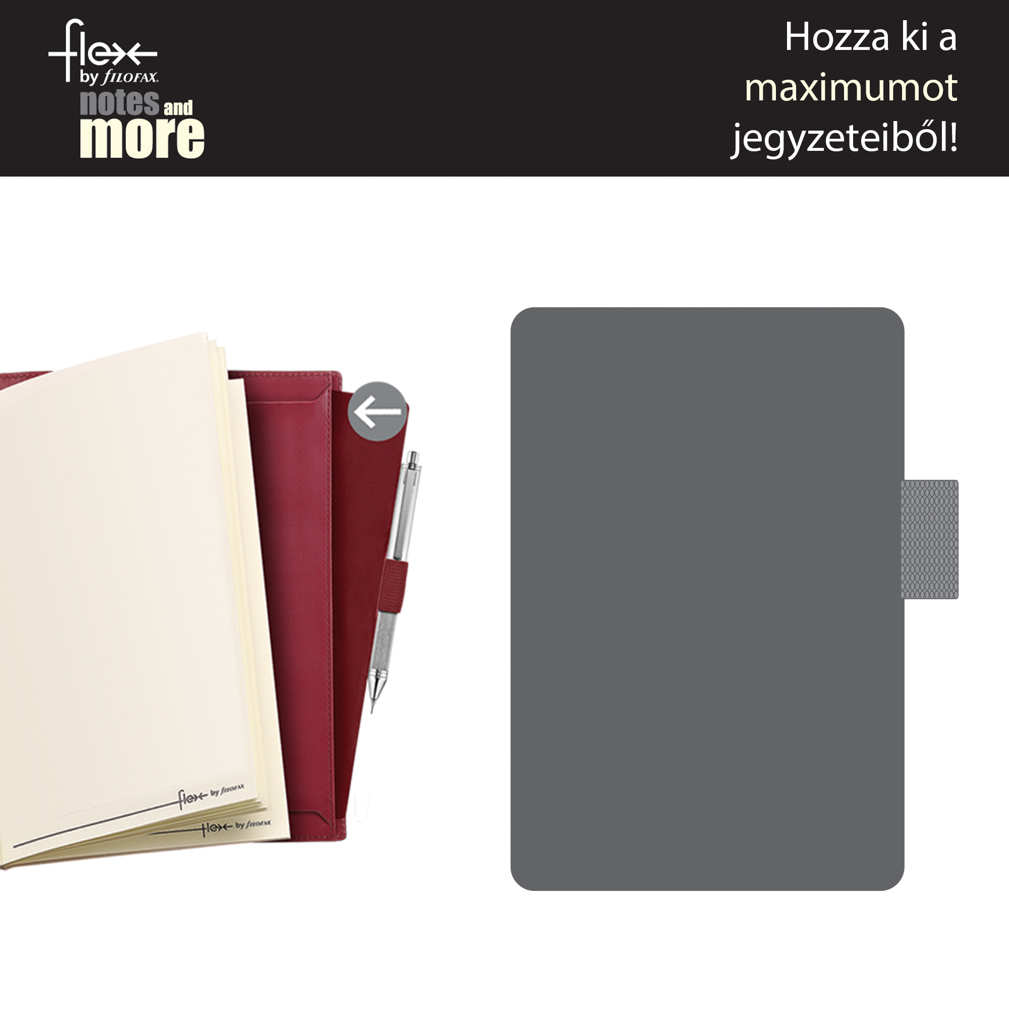 Filofax Flex Tolltartó Pocket -