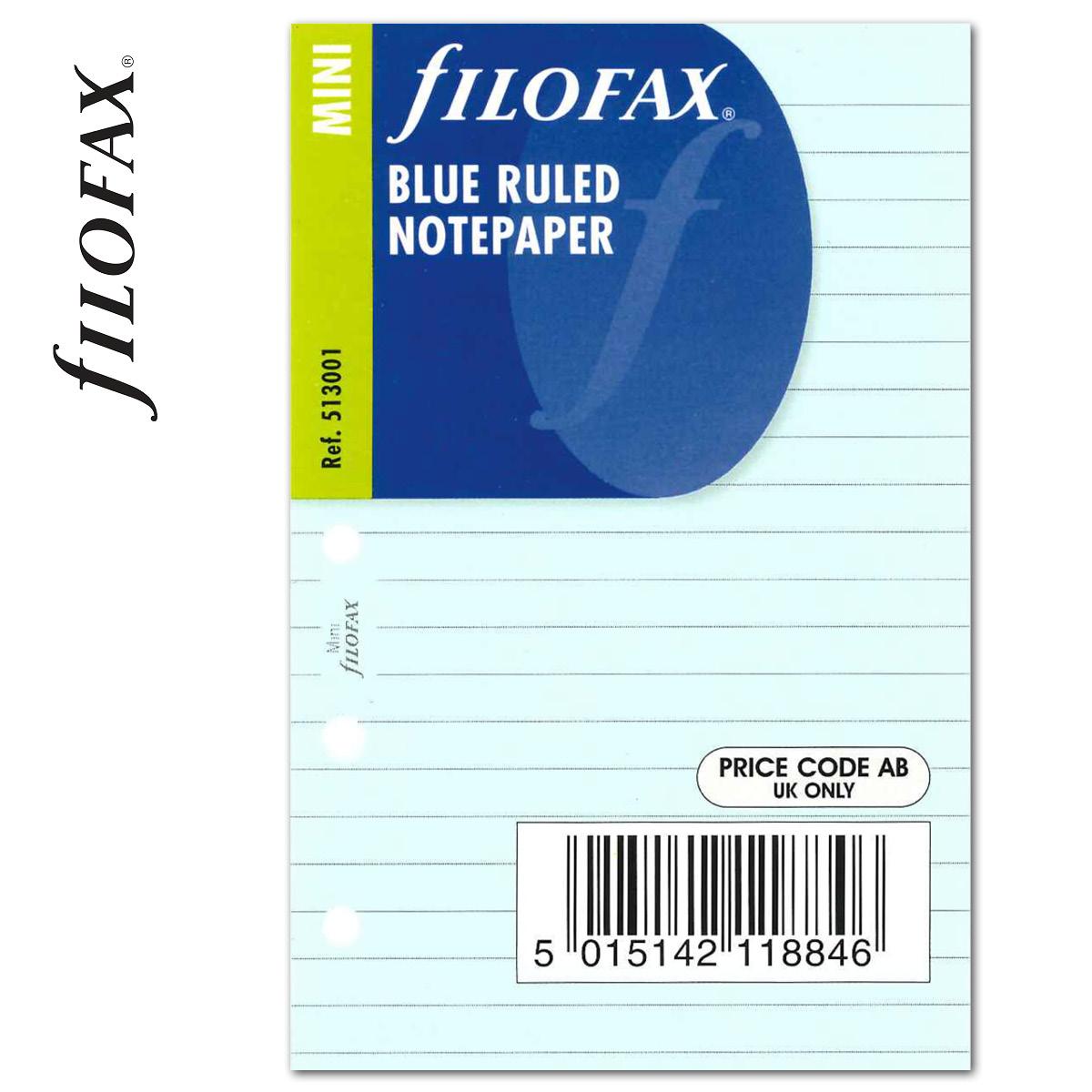 5e921d042e12 Filofax Jegyzetlapok Vonalas Mini Kék -
