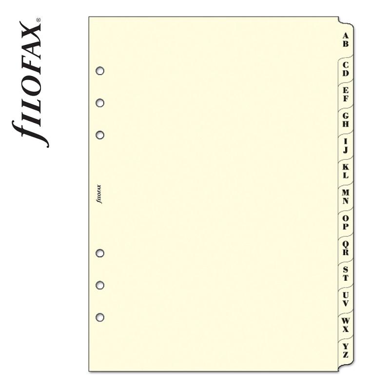744e8dc439 Goss: Filofax Kontakt lista regiszter 2 betű / regiszter A5 Krém ...